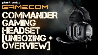 Plantronics GameCom Commander Gaming Headset [Unboxing & Overview]