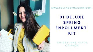 Thirty One Spring/Summer 2019 Enrollment Kit Unboxing - With Business Supplies