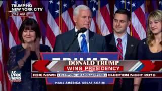 TRUMP Pence Presidential VICTORY acceptance FULL Speech PART1 November 9 2016 News