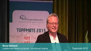 Toppmøte 2015 – Rune Helland