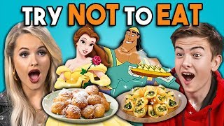 Try Not To Eat Challenge - Disney Food #2 | People Vs. Food