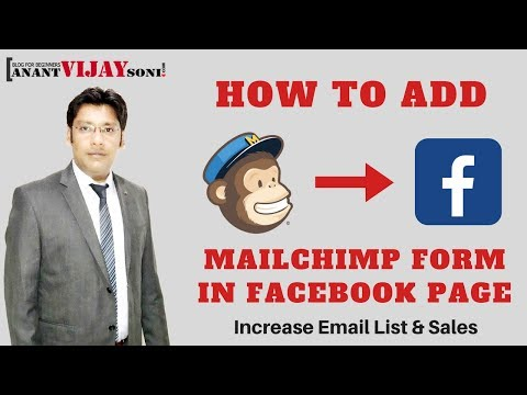 How to Add Mailchimp Form in Facebook Page | Increase Email List's Subscribers 1