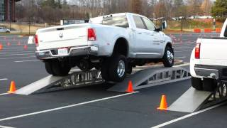 Frame Twist Test: 2014 Ram 3500 vs. 2014 Ford F350
