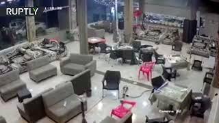 Момент мощного землетрясения в Ираке попал на видео