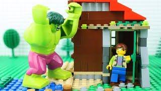 LEGO Hulk Smash Brick Building STOP MOTION | Hulk LEGO House Building 2 | LEGO Hulk | By LEGO Worlds