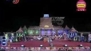 NADASRI in lord shiva gesture for SHIVOTSAVAM IN TV5 SHOW