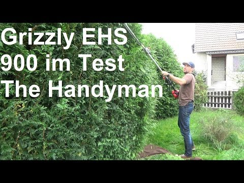 Grizzly EHS 900-2 L Elektro Langstiel Heckenschere im Test The Handyman
