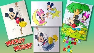 Mickey Mouse and his friends characters Part 2 #ColoringPages #forKids #LearnColors and Draw