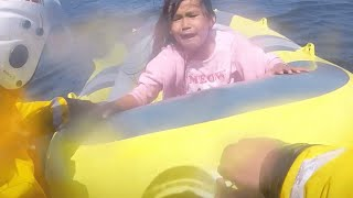 video: Watch: Dramatic moment little girl drifting at sea is rescued by RNLI