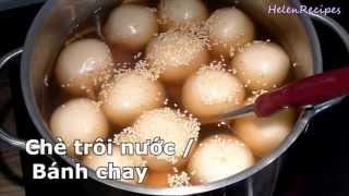 How to make Glutinous Rice Balls – Che Troi Nuoc / Banh Troi / Banh Chay