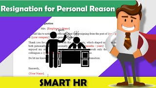 Resignation Letter for Personal Reason   How to write the perfect letter of Resignation   Smart HR