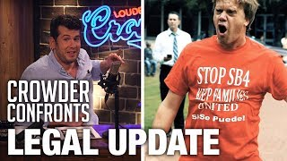 Legal Update on 'Crowder Confronts Lying Professor' | Louder With Crowder