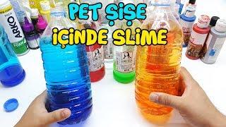 Pet Şişe İçinde Slime Olur Mu? Slime Challenge - BÜYÜK Slime Kapışması