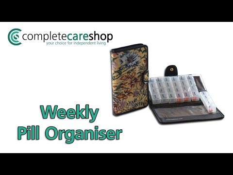 Weekly Pill Organiser With Tapestry Case