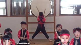 保育園児がNHK大河ドラマ「西郷どん」主題歌を和太鼓で表現する