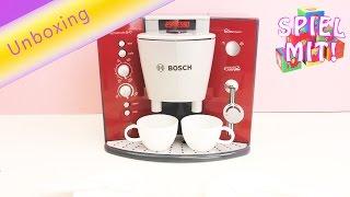 Bosch Kaffeevollautomat Espressomaschine – Kinder ab 3 Jahren geeignet – Von Klein Toys – Unboxing