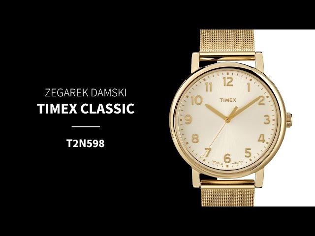 podświetlany złoty zegarek