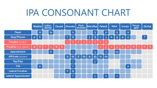 Таблица согласных звуков МФА - IPA consonant chart