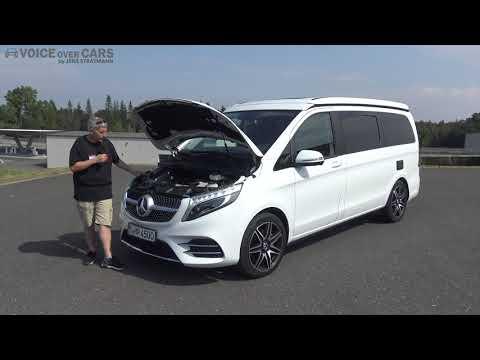 2019 Mercedes-Benz Marco Polo 300d Motor Check Blick unter die Motorhaube Voice over Cars