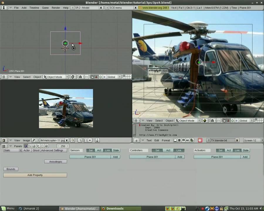 Blender 3D Game Engine - Main Menu Part#1
