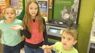 COINS FOR CASH | HOW MUCH IS IN OUR CHANGE JAR?!?
