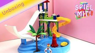 Playmobil wasserpark - Aquapark mit Rutsche, Pool und Spielplatz 6669