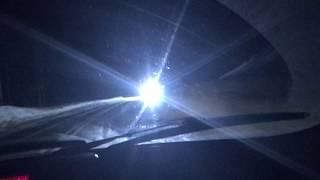 Team Italia night driving their Alfa Romeo near the polar circle