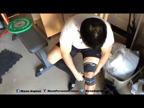 Video Voodoo Floss Bands Knee stiffness knee pain and quadriceps tendonitis learned