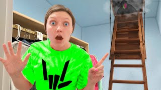 EXPLORING TOP SECRET ESCAPE ROOM in NEW SHARER FAM HOUSE (MYSTERY NEIGHBOR Evidence Clues Found)
