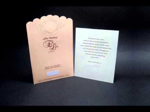 Video contoh undangan simple elegan murah 205 2016 2017