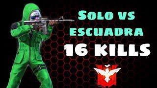 """PARTIDA ÉPICA EN SOLO VS ESCUADRA """"16 KILLS"""" //FREE FIRE"""