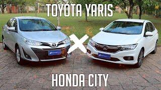 Comparativo: Toyota Yaris XL x Honda City LX