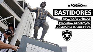 Estátua de Túlio Maravilha | Escultor reage às críticas e conta bastidores da homenagem do Botafogo