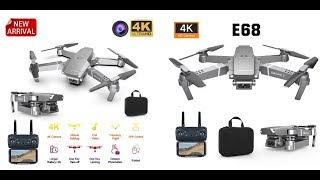 WIFI FPV Mini Drone With Wide Angle HD 4K 1080P Camera RC Foldable Quadcopter 2020 New E68