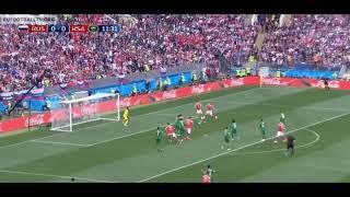 Матч Открытие ЧМ 2018 Россия - Саудовская Аравия| 5-0 Что творит Россия | Все голы