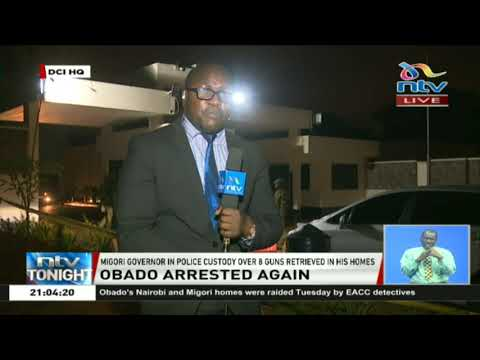 Governor Obado in police custody over eight guns retrieved from his homes