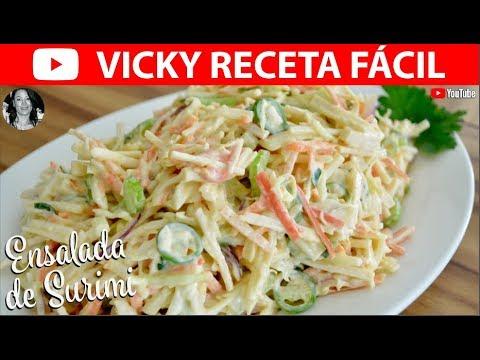 ENSALADA DE SURIMI   #VickyRecetaFacil