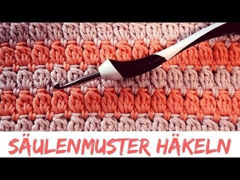 Hahnentrittmuster Häkeln - Anleitung zum zweifarbigen Häkeln ...