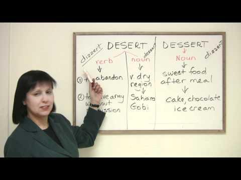 Confused Words - DESERT or DESSERT?
