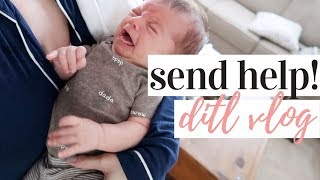 I HAVE A DIFFICULT BABY 😫 | DAY IN THE LIFE WITH A NEWBORN AND A TODDLER 2020