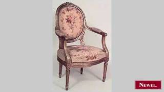 Antique French Louis XVI Style (19th Cent) Gilt Oval Back