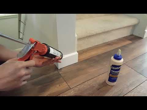 How to install  Baseboard without nails