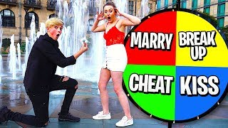 MYSTERY WHEEL Controls My Life w/GIRLFRIEND!! (24 Hour Challenge)