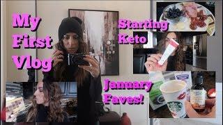 First Vlog! | Starting Keto Again, Serrapeptase & January 2019 Faves!! | LisaMarie