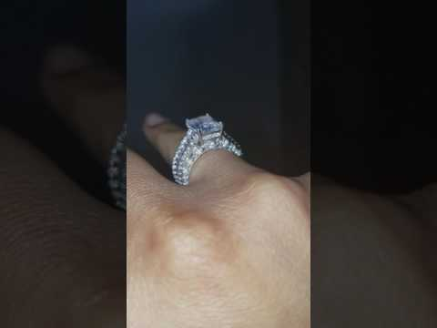 Joancee Ring Review Emerald Cut White Sapphire Sterling Silver Womens Engagement Ring Review