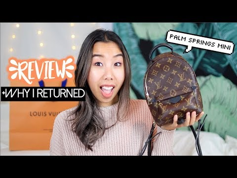 Louis Vuitton Palm Springs Mini Backpack Review +Why I Returned It | Emily Dao