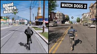 Gta 5 vs Watch Dogs 2   Side by Side   COMPARISON  