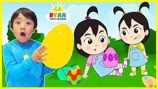 Easter Egg Hunt Surprise for Kids with Ryan, Emma, Kate | cartoon animation for children