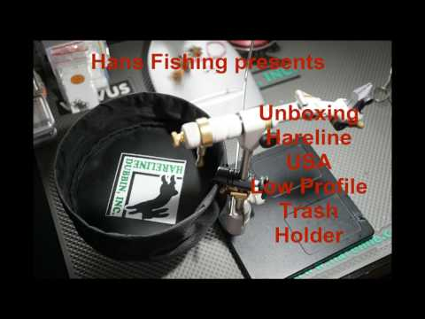 Unboxing Hareline Trash Holder Abfallkorb Fliegenbinden Deutsch
