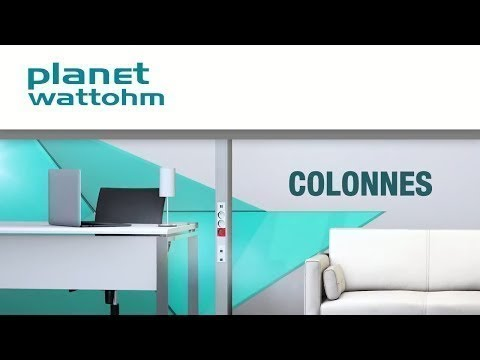 Colonne 2 compartiments LOGIX 2,67m aluminium